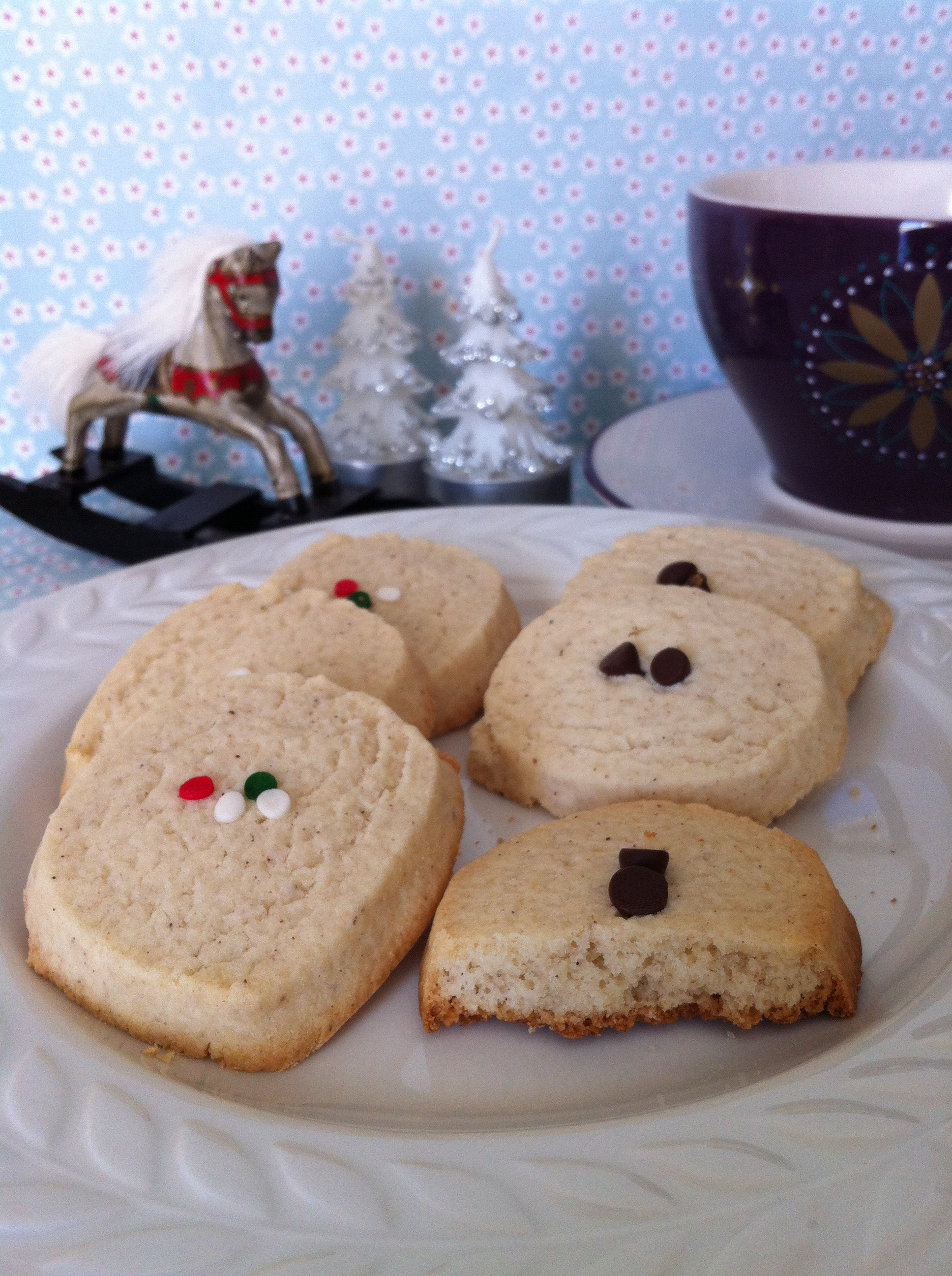 gluten free Christmas eggnog cookie