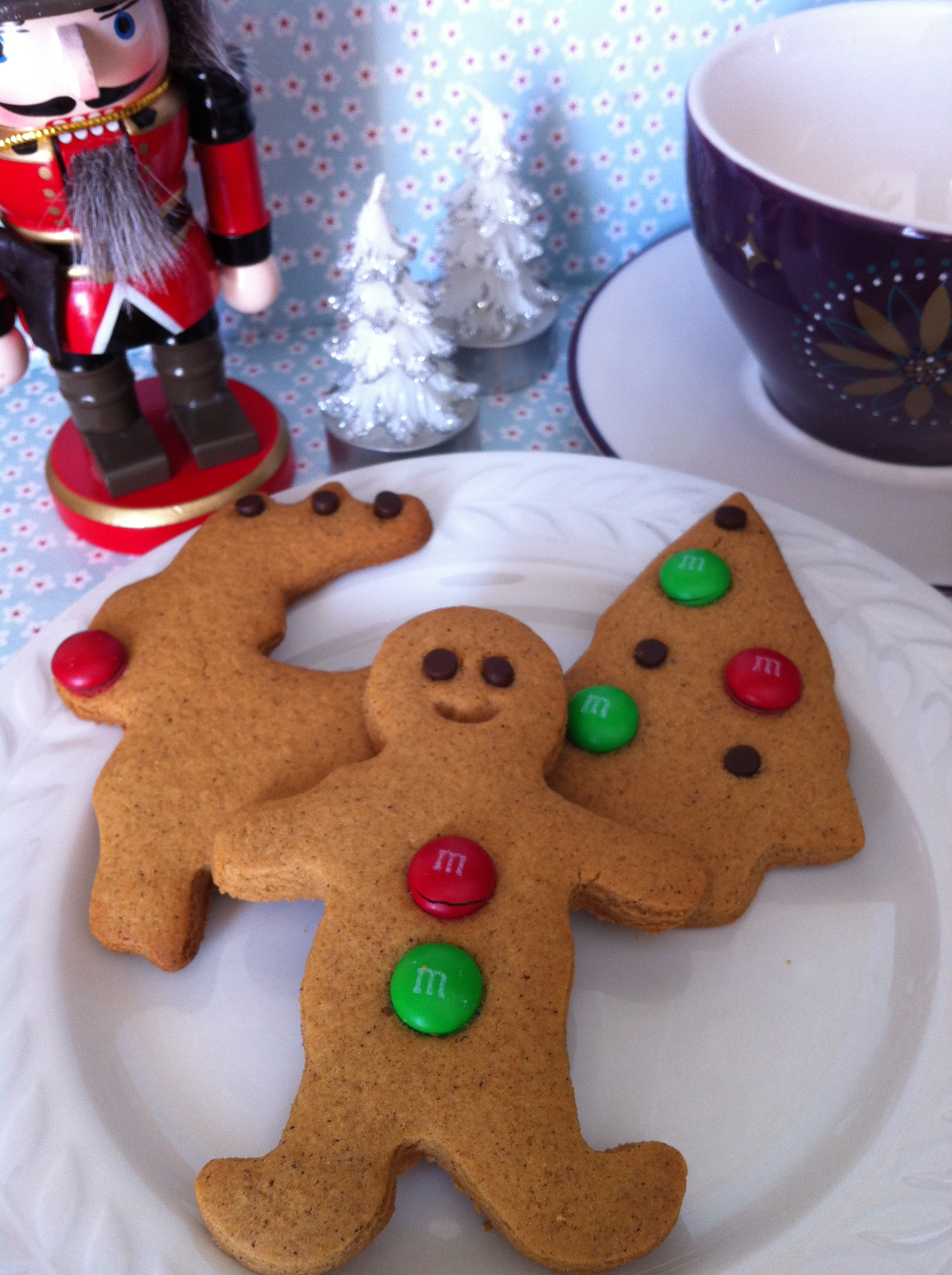 gluten free Christmas gingerbread cookies