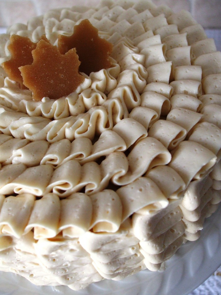 Gluten Free Maple Cardamom Ruffle-Cake