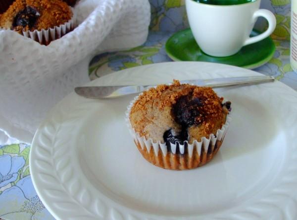 Gluten Free Dairy Free Almond Butter Blueberry Muffins