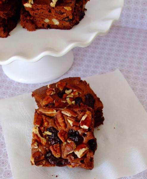 Gluten Free Dairy Free Chewy Cherry Brownies