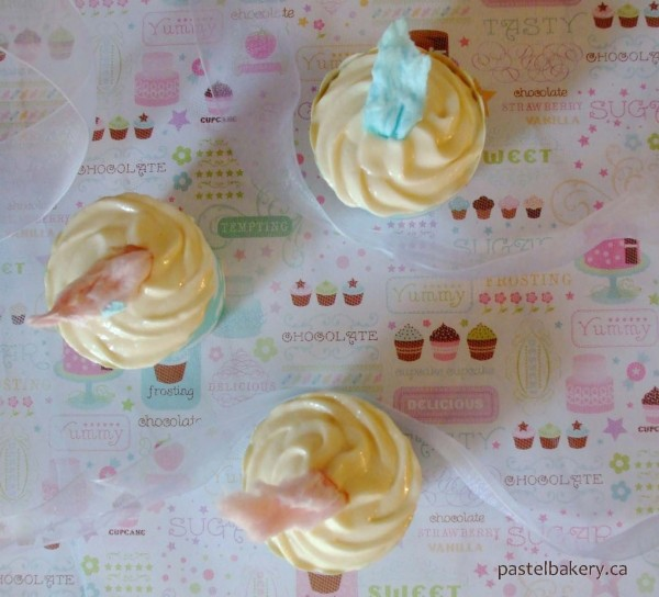 Gluten Free Dairy Free Cotton Candy or Candy Floss Cupcakes