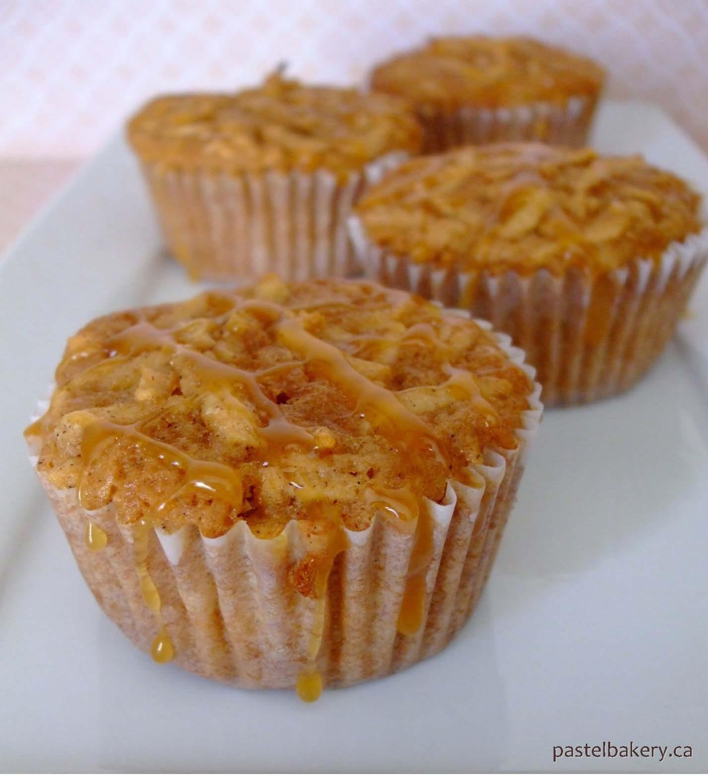 Gluten Free Dairy Free Caramel Apple Spice Muffins | Pastel Bakery