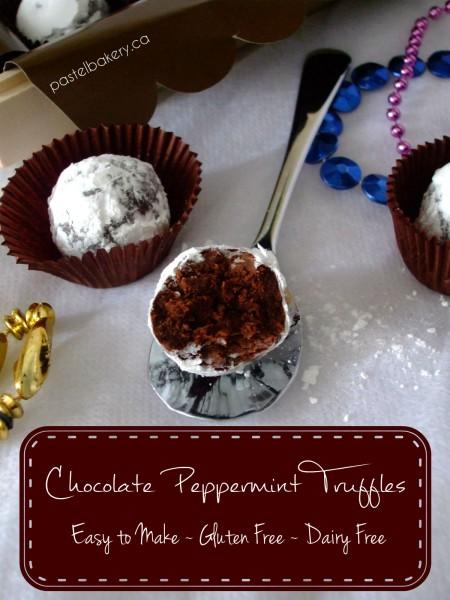 Gluten Free Dairy Free Chocolate Peppermint Truffles | pastelbakery.ca