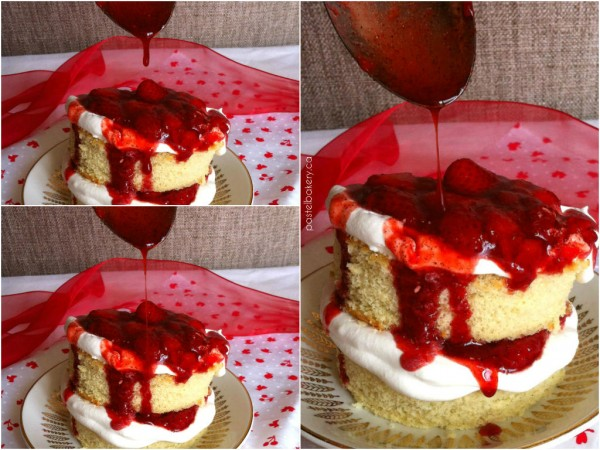 Gluten Free Roasted Strawberry and Whipped Cream Cakelets-2 | pastelbakery.ca