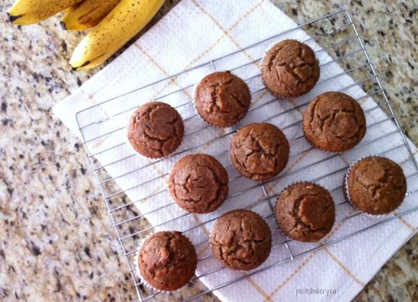 Gluten Free Vegan Banana Walnut Muffins-3 | pastelbakery.ca